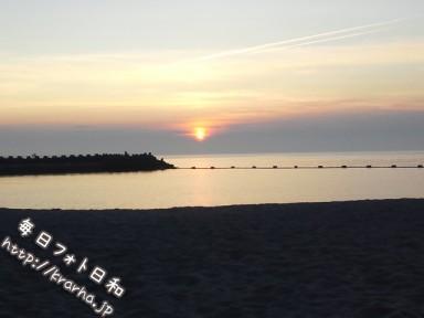 DSC 0465 384x288 五色浜の夕日