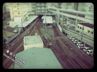 2012 03 24 14.40 384x288 伊予鉄髙島屋からの写真(チルトシフトっぽく)